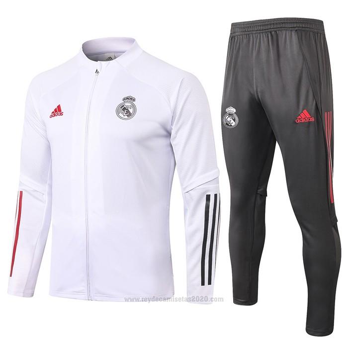 Chandal de Chaqueta del Real Madrid 2020-2021 Blanco - Camisetas de futbol baratas 2019/2020